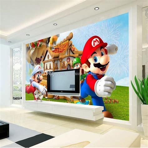 kids bedroom games super mario photo wallpaper personalized custom 3d wall