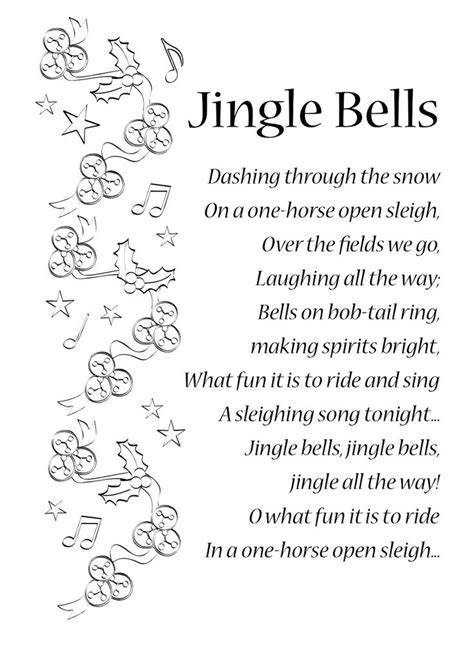 5 classic christmas songs the lyrics lyrics to jingle bells songs and rhymes lyrics songs songs