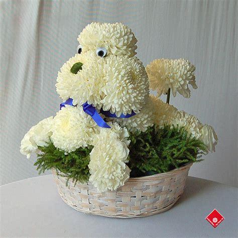 puppy flower arrangement 17 beautiful flower arrangements for
