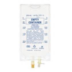 empty iv container bag 250ml