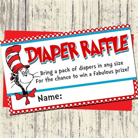 Dr Seuss Baby Shower Invitations Etsy by Silversdesign Etsy Dr Seuss Raffle Cards