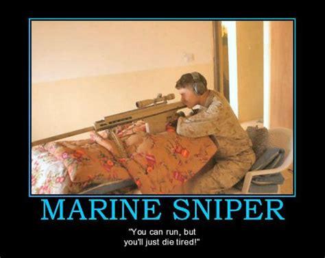 Funny Marine Memes - military humor funny joke marines sniper run die tired