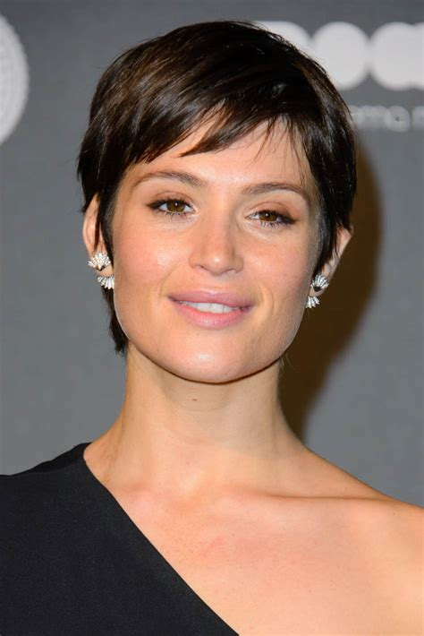 short hair gemma arterton s short hair and one shoulder
