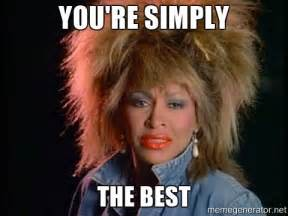 Your The Best Meme - you re simply the best whats love tina turner meme