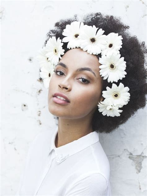 hair with fullness at crown afro flower crowns and headpieces on pinterest