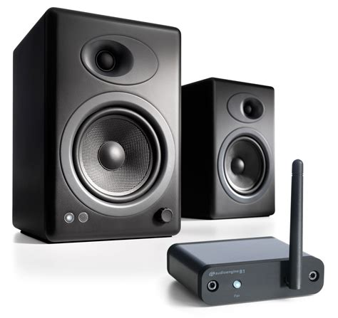 Black B1 audioengine a5 plus black b1 bundle 2 way speaker system w