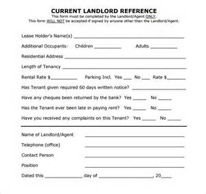 Tenant Reference Request Template Sle Landlord Reference Template 9 Free Documents In Pdf Word