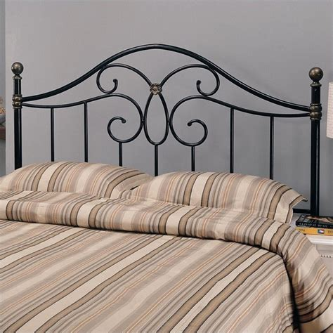 full iron headboard coaster full and queen metal headboard in bronze and black