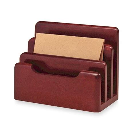 Letter Holders Desk by 3 Section Wood Tones Desktop Tray Sorter Desk Mesh Holder