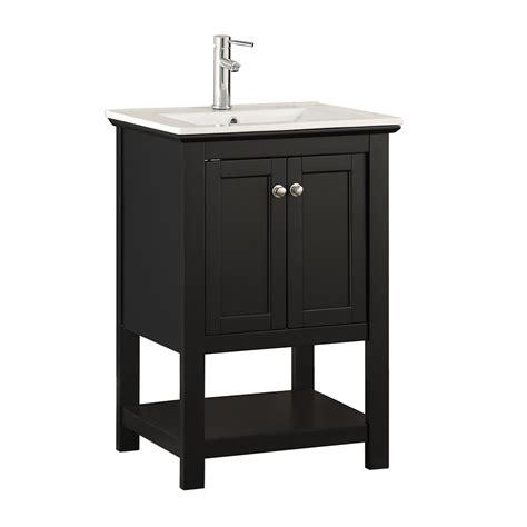 fresca bradford    traditional bathroom vanity  black  ceramic vanity top  white