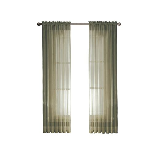 sheer elegance curtains window elements sheer elegance 84 in l rod pocket curtain