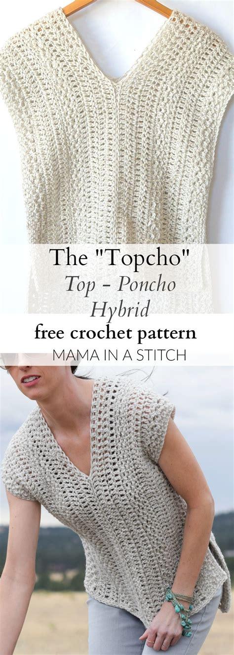 pattern crochet shirt the topcho easy crochet shirt pattern via mamainastitch