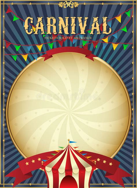 carnival poster template vintage carnival circus poster template vector