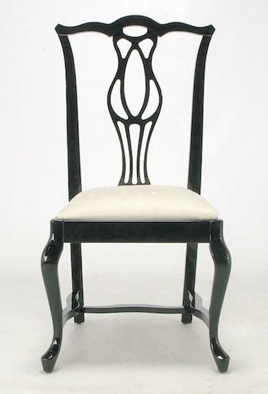 chippendale chair st 1st dibs italian black lacquer chippendale dining