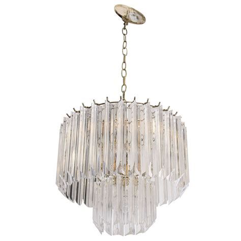 Tiered Chandelier a 1970s lucite two tiered chandelier at 1stdibs