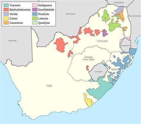 In Africa by File Bantustans In South Africa Svg