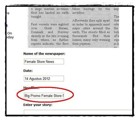 cara membuat artikel untuk koran tutorial cara membuat koran madina madani satu