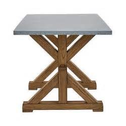 Metal Wrapped Dining Table Metal Top Wrapped Braxton Dining Table