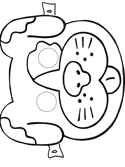 dog mask coloring page 53 best mask craft and templates images on pinterest