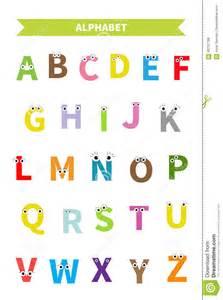 Flashcards Of Alphabets Lettres Avec Le Visage Yeux Alphabet Abc Anglais Les