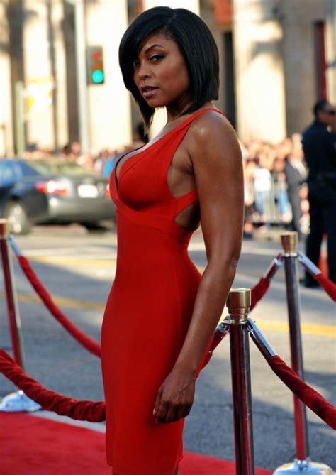 taraji p henson red dress erin s faces girl crush taraji p henson