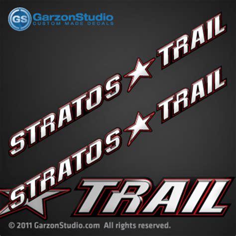 stratos boat wax stratos trail trailer decals set garzonstudio