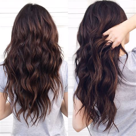 brown hair color with highlights ideas how to dye blonde and dimensional dark chocolate brown hair hairbynamrood