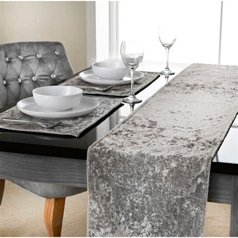 Velvet Table Runner by Crushed Velvet Table Runner 33 X 235cm Tableware Dinner