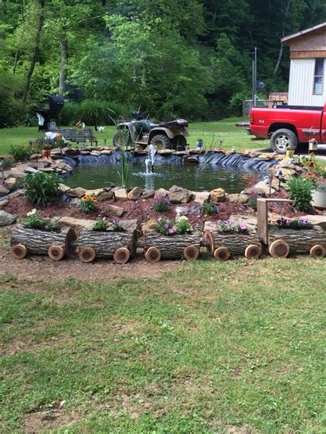 17 best ideas about log planter on yard
