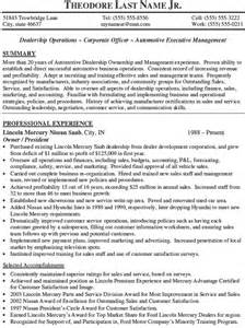 Automotive General Manager Sle Resume by Pin Graphic Resume Screenshot On