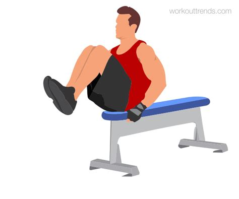 bench leg pull in how to do bench leg pull in or knee up workouttrends com