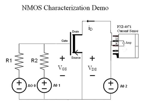 transistor nmos nmos transistor characterization with the ni pxie 4081 7 189 digit dmm national instruments