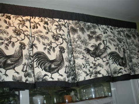 chicken curtains kitchen curtains french country fighting roosters black and white