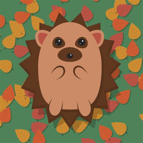 Inkscape Tutorial Hedgehog | create an adorable hedgehog with basic tools in inkscape