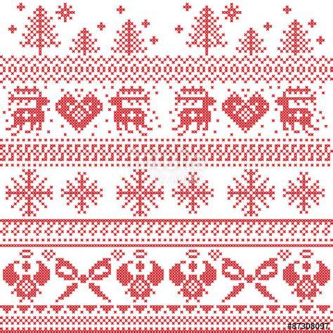 nordic christmas pattern vector quot scandinavian nordic xmas pattern with reindeer rabbits