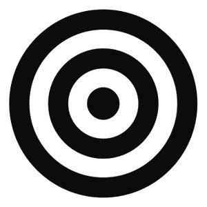 bullseye target decal sticker. motorcycle graphics