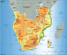 Topographic Map Of Africa by Pics Photos Southern Africa Map Political