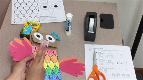 How To Make A Paper Bag Owl - who s hootin paper bag owl puppet craft tutorial from