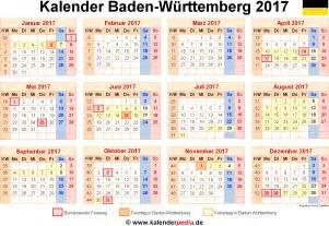 Kalender 2018 Druckversion Kalender 2017 Baden W 252 Rttemberg Ferien Feiertage Pdf
