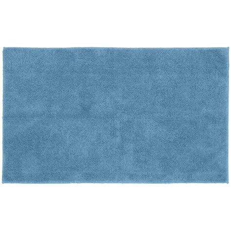 30x50 Bath Rug Garland Rug Cotton Sky Blue 30 In X 50 In Washable Bathroom Accent Rug Que 3050 03 The