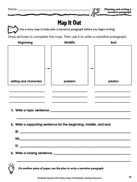 template for narrative writing graphic organizers for personal narratives scholastic