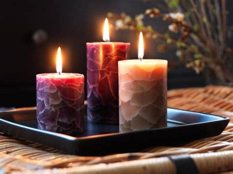 five different types of candles for home decor