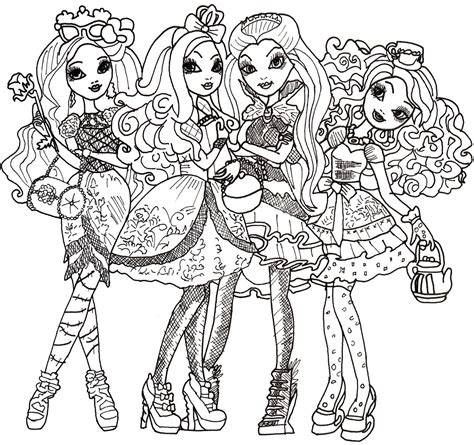 coloring pages ever after high raven queen free printable ever after high coloring pages ever after