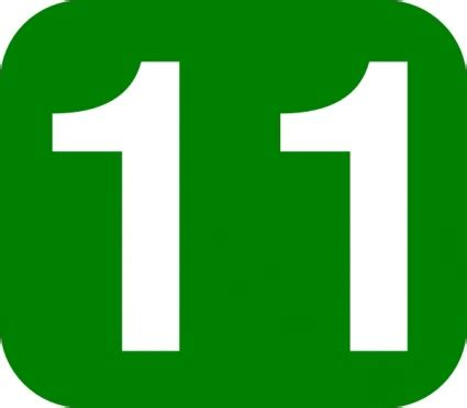 number 11 free clipart