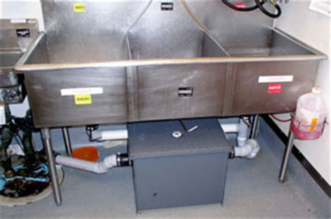 kitchen grease trap design commercial grease trap installation theplumbingpro com