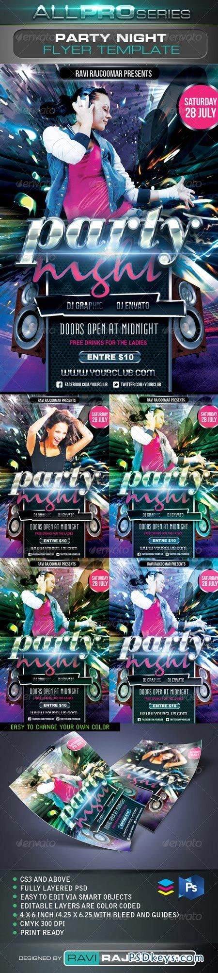 Party Night Flyer Template 2650826 187 Free Download Photoshop Vector Stock Image Via Torrent Flyer Template Rar