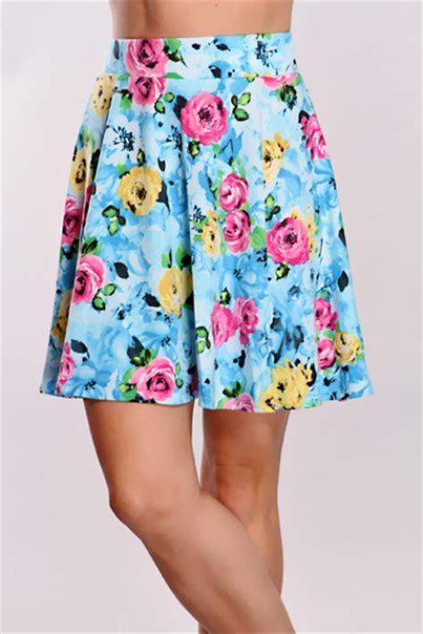floral blue skirt skater skirt shop for floral blue skirt