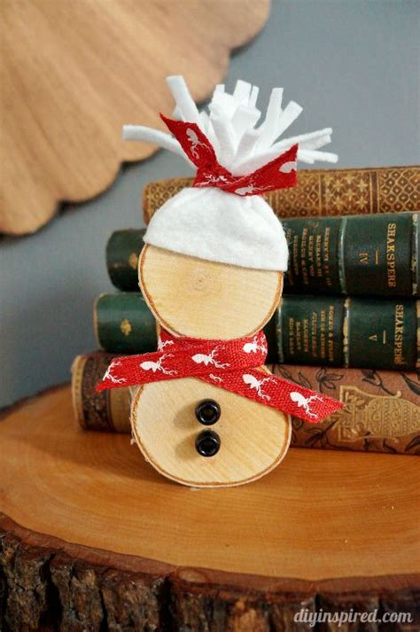 wooden christmas craft centerpieces diy wood slice snowman diyinspired diy wood snowman and woods
