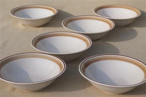 Mangkok Keramik Cereal Bowl Motif vintage hearthside japan stoneware pottery dishes plain water colors soup or cereal bowls