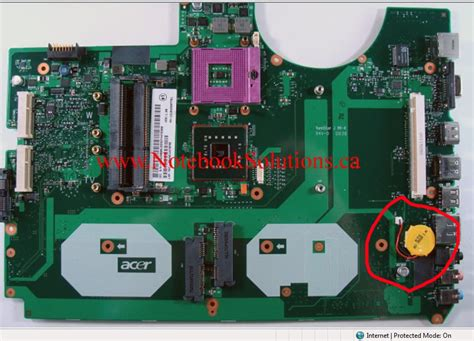resetting cmos battery my acer aspire 8930 got password on bios how i can remove